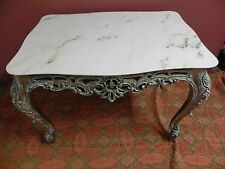MARBLE TOP FRENCH STYLE OCCASIONAL/LAMP TABLE