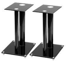 Glas HiFi Studio TV Boxen Stativ Monitor Säule Lautsprecher Ständer Aluminium