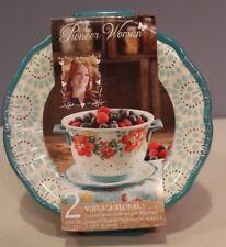 Pioneer Woman Vintage Floral Ceramic Berry Colander & Drip Plate