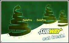 SUBWAY USA 2013 CHRISTMAS EAT FRESH SUBMARINES ENGLISH COLLECTIBLE GIFT CARD