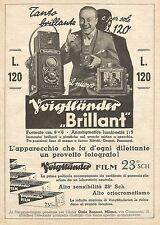 W7713 Apparecchio Fotografico VOIGTLANDER Brillant - Pubblicità del 1933 - Ad