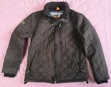 Superdry Men's Black Microfibre Quilted Windhiker Jacket Size XL Used Condition