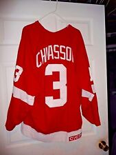 a7d7864c9b2 STEVE CHAISSON GAME WORN USED DETROIT RED WINGS JERSEY DECEASED PLAYER