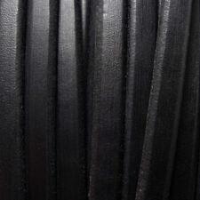 1 metro de cuero REGALIZ NEGRO 10x6mm pulseras abalorios (CUP-29) cuero genuino