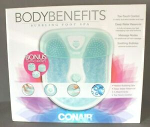 Extra Large Body Benefits Conair Foot Spa with Massaging Bubbles & Heat 100 NEW