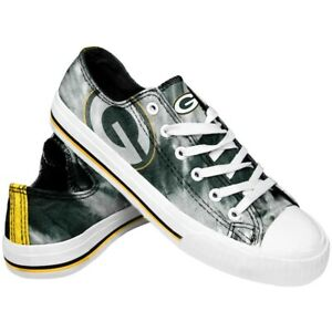 Green Bay Packers Women's Low Top Tie-Dye Canvas Shoes