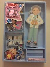 NEW Melissa & Doug Magnetic Dress-Up Doll Julia Careers Doctor Astronaut NIP