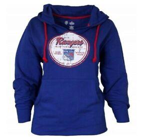 NHL Majestic Fan Fashion NY Rangers Fleece Hood Pullover New Womens Size 4X
