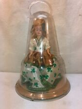 Vtg 50's Plastic MARCH SHAMROCK Blonde COLLEEN Doll Dome Bell CARRY Case Handle