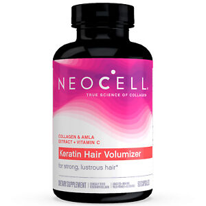 Neocell Keratin Hair Volumizer - 60 Capsules FRESH, FREE SHIPPING, MADE IN USA