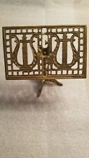 Brass Card Recipe Music Holder. 6 X 6 Inches. Needs Cleaned