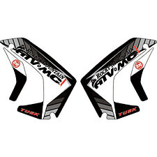 Attack Graphics Traverse Radiator Shroud Decals Grey Kawasaki KLR650 2008-2017