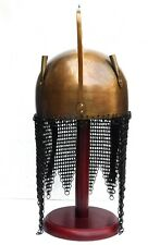 Halloween Medieval Corinthian Helmet Armor & Shields Helmet Chain mail & Stand