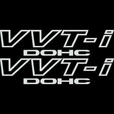 [#127] 2x White Toyota VVT-I DOHC Stickers Vinyl  VVTI Corolla Supra JDM Celica