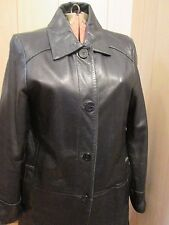 LNR by la nouvelle Renaissance Leather Jacket Black Size M Buttons Nice Details