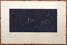 Joan Ponc gravure originale 1977 signée art abstrait Museo Reina Sofía de Madrid