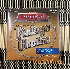 ThroBak Vintage Choice Electric Guitar Strings Nickel Wound Xtra Light set. 9-42