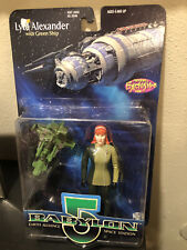 Babylon 5 Previews Exclusive Lyta Alexander Action Figure w/Green Ship 1997 MOSC