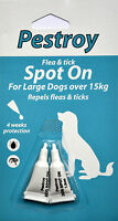 1 PACK  OF PESTROY FLEA & TICK SPOT ON FOR  DOGS OVER 15 KG