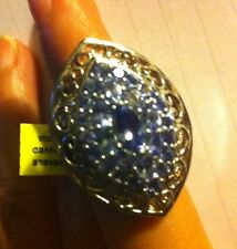 Tanzanite Ring, Platinum Over Sterling silver. Sz 7 (3.95 Cts)