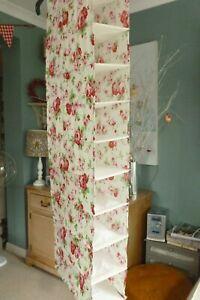 IKEA Cath Kidston Rosali roses fabric fold up wardrobe hanging shoe storage VGC