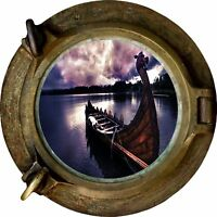 Huge 3D Porthole Enchanted River Sky View Wall Stickers Film Mural Art Decal 407