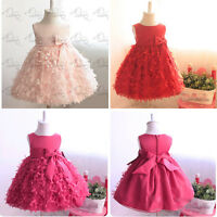 Girls Princess Dress Kids Baby Party Wedding Pageant  Tutu Long Ball Gown Dress