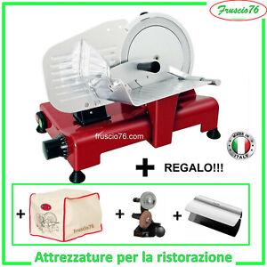 Affettatrice Elettrica 195 GL Lusso RGV ROSSA + Affilatoio + Copertura + Pinza