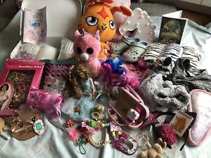 Big Bundle Joblot Of Girls Items Toys Hello Kitty Disney Princess Resale Carboot