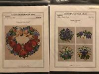 "Ellen Maurer-Stroh ""Roses And Lilacs"" ""Floral Collection"" Cross Stitch Patterns"