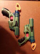 Vintage Nerf 2003 SINGLE SHOT DART BLASTER DART GUN RARE GREEN x2