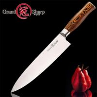 8 Inch Chefs Knife Japanese Style Kitchen Cutlery Meat Cleaver Stainless Steel