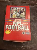 1990 Score Series I/One Football (1) Unopened Wax Box 36 packs: Bo Jackson top