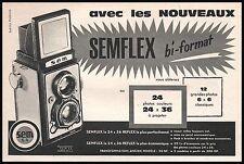 Publicité SEMFLEX  appareil photo vintage print ad  1961 -6i