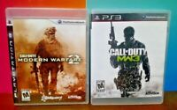 Call of Duty Modern Warfare 2 + 3 - Sony PlayStation 3 PS3 Games Lot COMPLETE