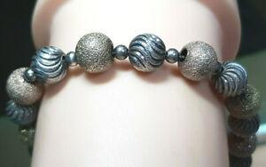 Armkette 925 SILBER Sterling Silver argent Tricolor Kugel kette bracelet Armband