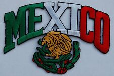 """5 Mexico / Eagle (Arch) Embroidered Patches 2.8""""x4"""" iron-on"""