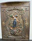 Vintage Architectural Salvage Fireplace Victorian Art Nouveau Cast Iron Door