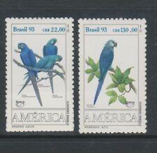 Brazil - 1993, America Gefährdete Aras, Vögel Set - MNH - Sg 2599/600