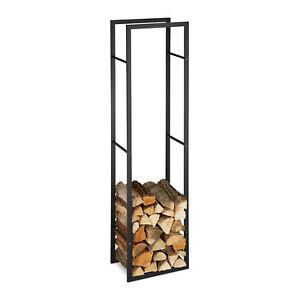 Kaminholzregal Metall Brennholzregal hoch Feuerholzregal Holzaufbewahrung innen