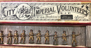 Britains: RARE EARLY Boxed Set 104 - City Imperial Volunteers. Pre War c1903