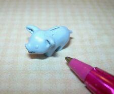 Miniature Smiling BLUE Metal Piggy Bank for DOLLHOUSE, 1:12 Scale Miniatures