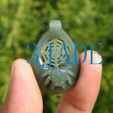 Hand Carved Natural Jade Nephrite Spider / Net Pendant
