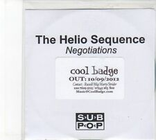 (DW915) The Helio Sequence, Negotiations - 2012 DJ CD