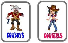 Cowboy & cowgirls Toilette Porta Segni CAFE TOILET DOOR Sign, PUB segno porta