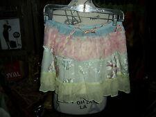 DA NANG RANGOON by Romantic Silk Mini Skirt Size M/L