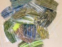 """4"""" Stick Senko Style Mix and Match Assortment 50 count bag bulk bass worm"""