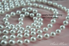 1.5 Meter 8mm White Pearl Garland String for Wedding/Bridal/Corsages/Decorations