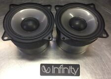2 Infinity Overture 1 Woofers 3 1/2 Speakers M100-3 330638-001 Pair Tested