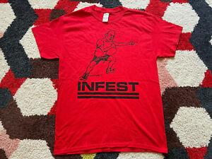 Infest boston show Medium T-Shirt powerviolence hardcore MITB born against spazz